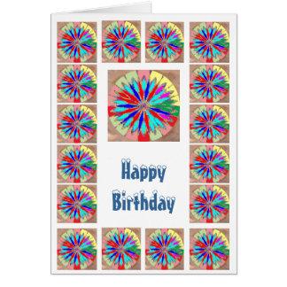 Rueda de la cura Chakra - feliz cumpleaños Tarjeton