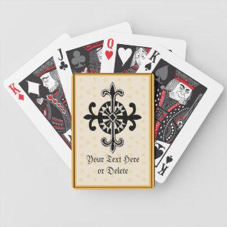 Rueda de la flor de lis baraja cartas de poker
