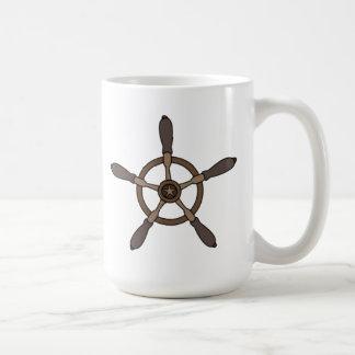 Rueda de la nave taza básica blanca