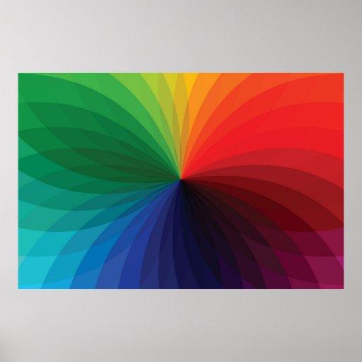 Rueda de la pendiente del color posters
