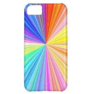 Rueda de la sombra del color - extremo del arco ir funda para iPhone 5C