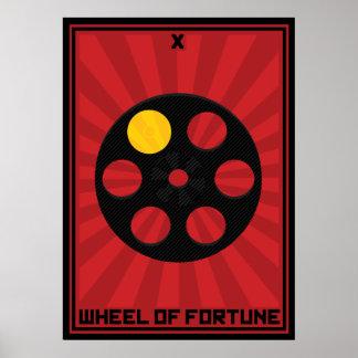 Rueda de la tarjeta de la fortuna póster