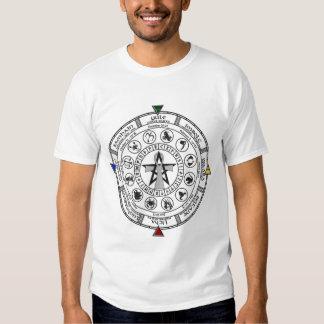 Rueda de las runas de Sabbats del zodiaco del año Remera
