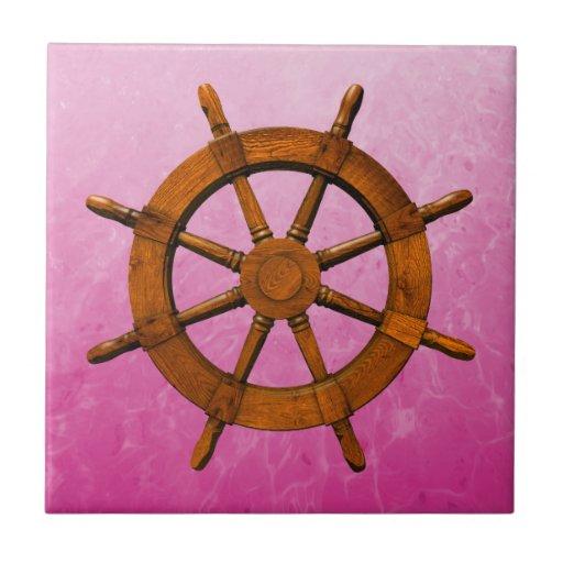 Rueda de madera de la nave azulejo cuadrado pequeño