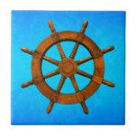 Rueda de madera de la nave azulejo cerámica