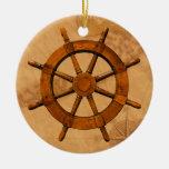 Rueda de madera de la nave ornamentos de reyes magos