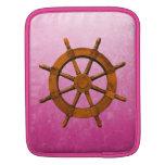 Rueda de madera de la nave funda para iPads