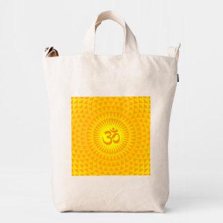 Rueda de oro amarilla OM de la meditación de la Bolsa De Lona Duck