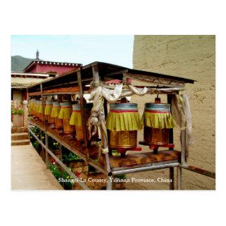 Rueda de rezo, el condado de Shangri-La, Yunnan, C Postal