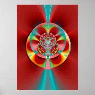 Rueda de ruleta cósmica póster