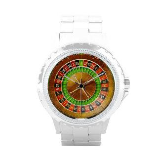 Rueda de ruleta relojes de pulsera