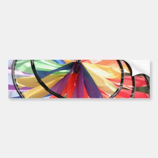Rueda de viento etiqueta de parachoque