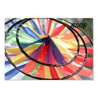 Rueda de viento invitación 8,9 x 12,7 cm