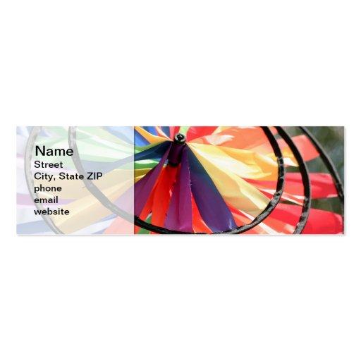 Rueda de viento tarjetas de visita