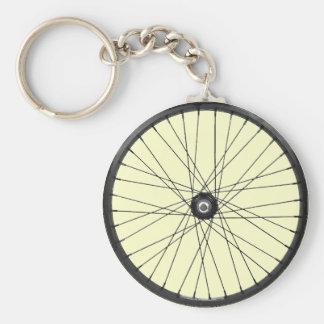 rueda del alambre de la bicicleta llavero redondo tipo pin