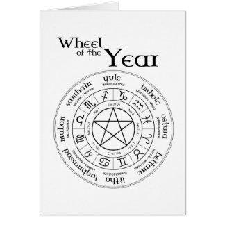 Rueda del año - tarjeta del hemisferio norte