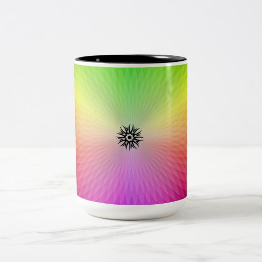 Rueda del arco iris taza de café