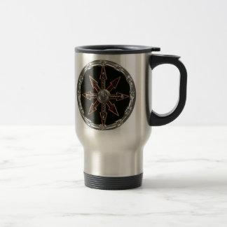 rueda del caos tazas de café