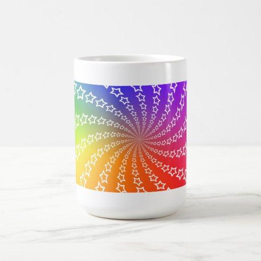 Rueda del espiral y de color de la estrella: taza de café