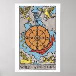Rueda del poster de la carta de tarot de la fortun