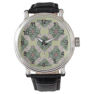 Rueda del reloj del diseño de Lotus de la vida
