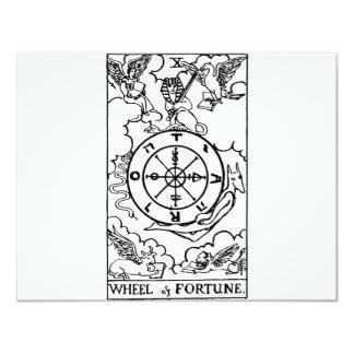 """rueda del tarot 'del fortune invitación 4.25"""" x 5.5"""""""