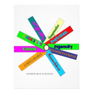 """Rueda del tesauro de la creatividad folleto 8.5"""" x 11"""""""