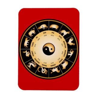 Rueda del zodiaco de Chiinese Imanes