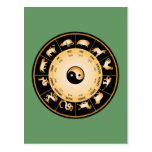 Rueda del zodiaco de Chiinese Tarjeta Postal