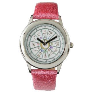 Rueda del zodiaco de la astrología +regalo reloj de mano