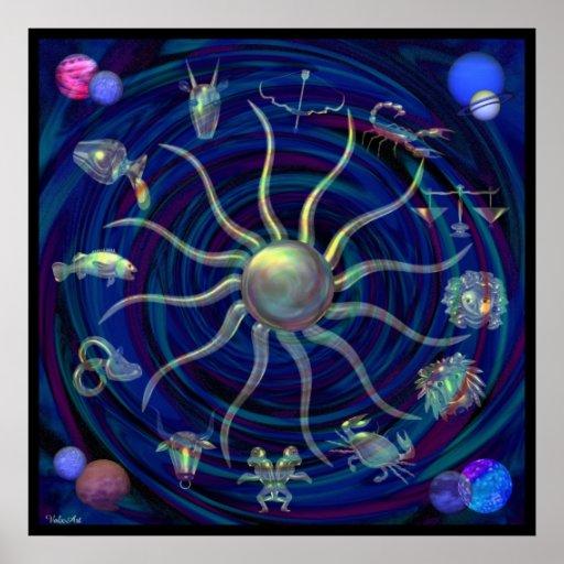 Rueda del zodiaco del poster de la vida por Valxar
