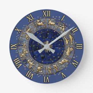 Rueda del zodiaco reloj de pared