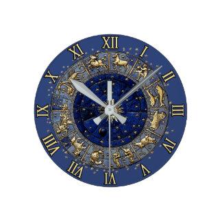 Rueda del zodiaco reloj redondo mediano