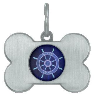 rueda elegante rústica de la navegación de la placa de nombre de mascota