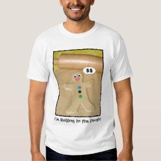 Rueda en la camiseta de los hombres chistosos de playera