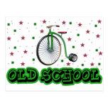Rueda grande de la escuela vieja tarjetas postales