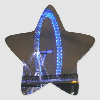 Rueda Londres del milenio Calcomanía Forma De Estrella