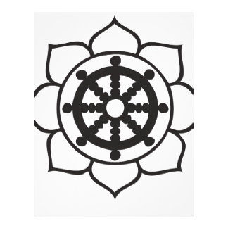Rueda Lotus de Dharma Plantilla De Membrete