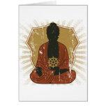 Rueda Meditating de Buda Dharma Felicitación