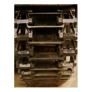 rueda militar del tanque tarjeta postal