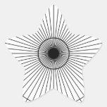 Rueda minuciosa colcomanias forma de estrella personalizadas