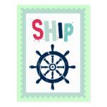 Rueda náutica de la nave postal