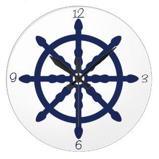 Rueda náutica del cuarto de niños de la onda reloj redondo grande