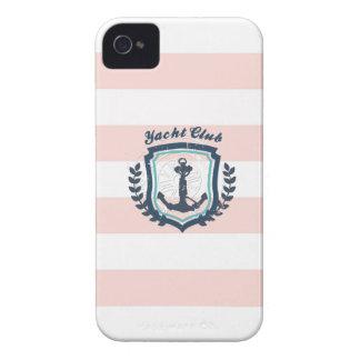 Rueda náutica femenina del barco del ancla del clu iPhone 4 Case-Mate carcasa