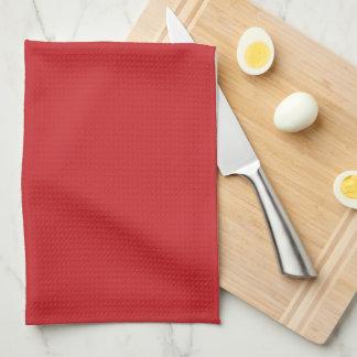 Rueda náutica roja de la nave toalla de cocina