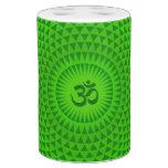 Rueda OM de la meditación de la flor de Lotus del  Vasos Para Cepillos De Dientes