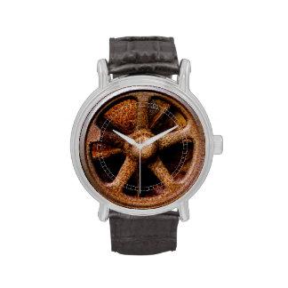 Rueda oxidada de la portilla submarina relojes de mano