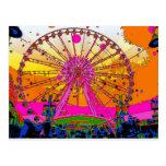 Rueda psicodélica del cielo tarjetas postales