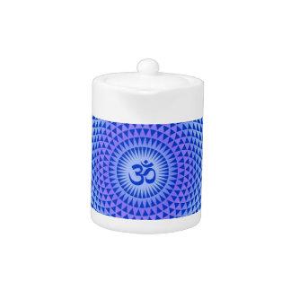 Rueda púrpura OM de la meditación de la flor de Lo