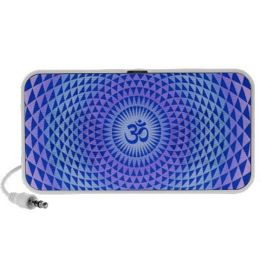 Rueda púrpura OM de la meditación de la flor de Lo iPhone Altavoces
